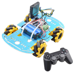 PS2 Handle RC Control Omni Mecanum Wheel Robot Car Kit with UNO R3 Board Motor Driver Board for Arduino Progarm DIY STEM Toy