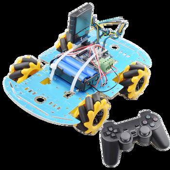 цена на PS2 Handle RC Control Omni Mecanum Wheel Robot Car Kit with UNO R3 Board Motor Driver Board for Arduino Progarm DIY STEM Toy
