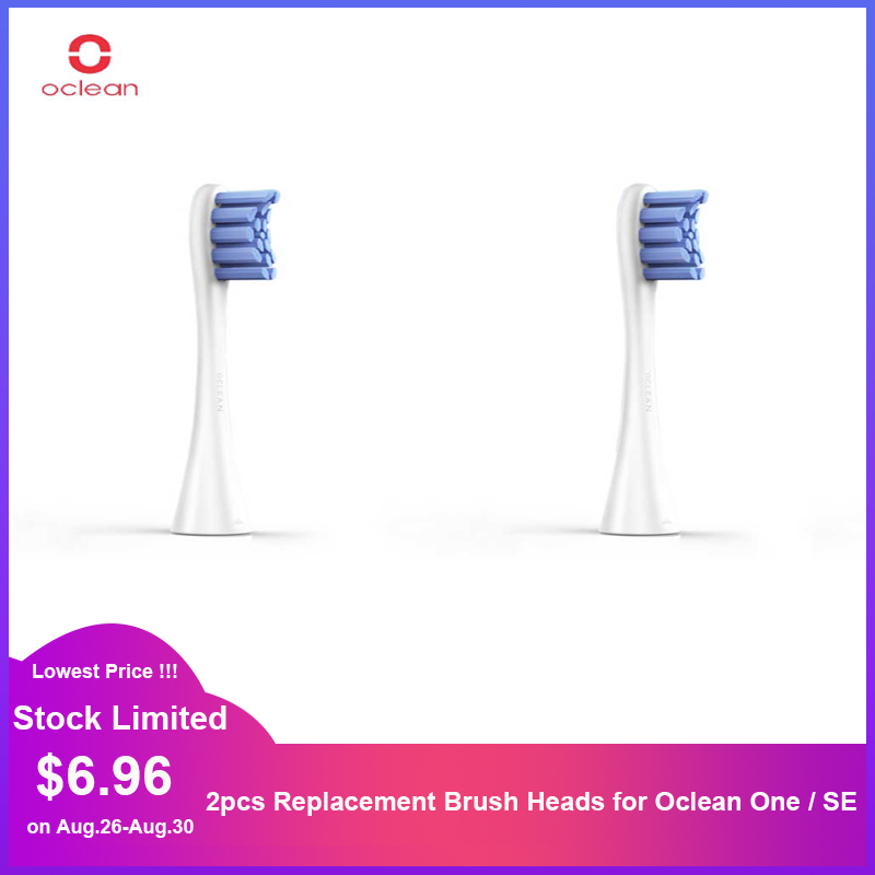 2pcs Replacement Brush Heads For APP Control Smart Oclean One / SE Electric Sonic Toothbrush
