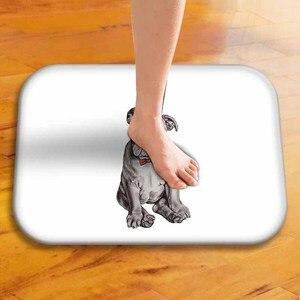 Image 3 - Alfombra de dormitorio familiar con estilo, bonita alfombra de Pug, alfombra de baño, cocina, dormitorio, Mini alfombra, Alfombra de puerta con impresión Digital, 40x60cm ..