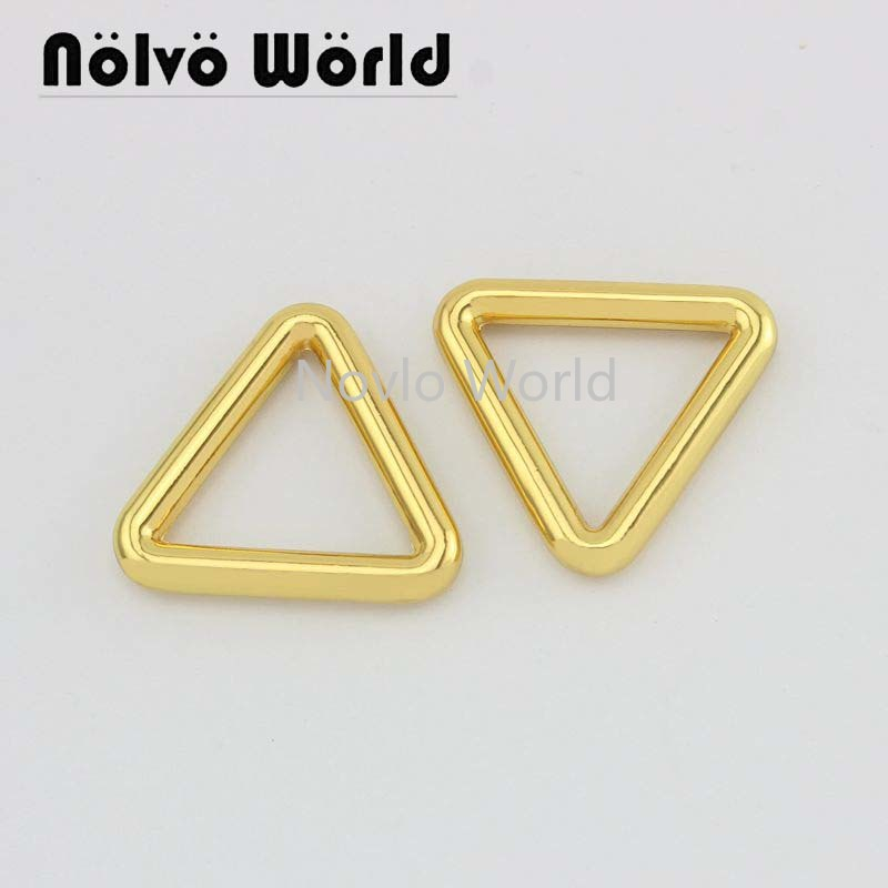 4 Pieces Test, 26.5*23mm Metal Buckle Triangle Shape Buckle For Handbag Belt Leather Craft Diy Hardware Accessories