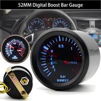 """2 """"52mm כחול LED עשן פנים רכב אוטומטי בר טורבו Boost מד מד אוניברסלי-במדי לחץ מתוך רכבים ואופנועים באתר"""