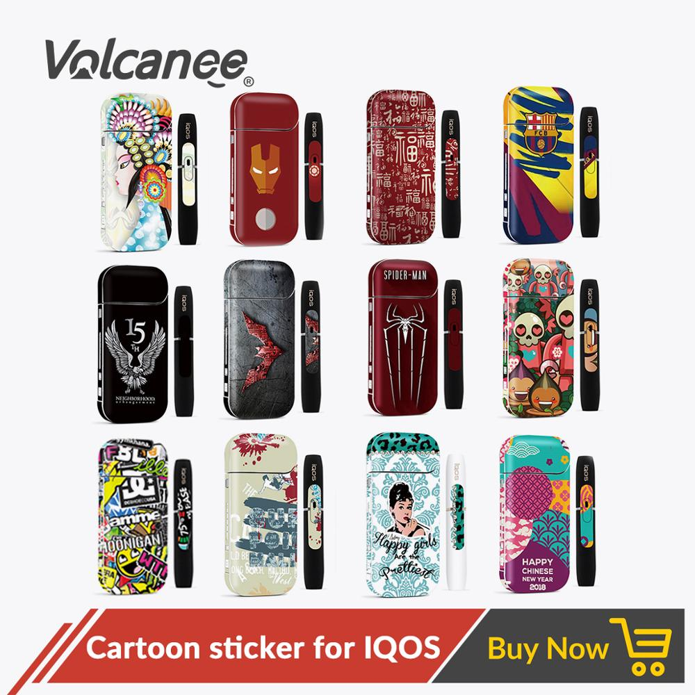 Volcanee Sticker Case For IQOS Stickers Printing Protective For IQOS 2.4 Plus Kit Sticker Skin Decal Box Mod E Cig Accessories