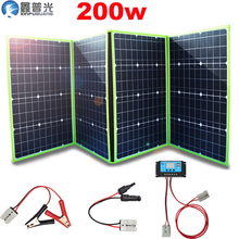 200w 100w*2 20v solar panel flexible foldable home kit outdoor charger for RV 12v car battery controller 5v usb camping hiking