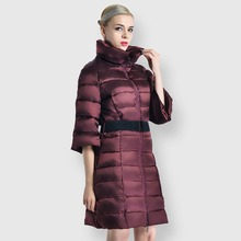 Winter coat women plus size winter fashion down jacket five-point wide-sleeved elegant cotton free shipping
