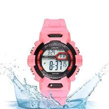 Przechowywanie wyprzedaż wyprzedaż!! Dzieci Unisex zegarek wodoodporny studenci piękny Luminous elektroniczny zegarek tanie tanio HobbyLane Brak 128 MB 24 godzin instrukcji Chronograph Budzik Tydzień Miesiąc Noctilucent 120 mAh Angielski Wszystko kompatybilny