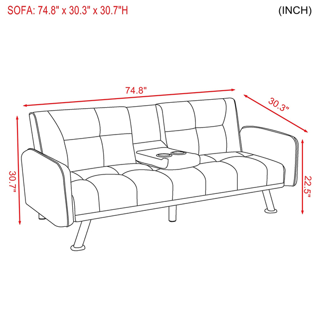 Light Grey Sofa Bed Couch  6