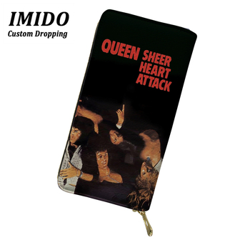 цена IMIDO Wallet Luxury Queen Band PU Leather Wallet for Women Purse Ladies Wallets Black Wallet Wallet Rock Forever Young Wallet онлайн в 2017 году
