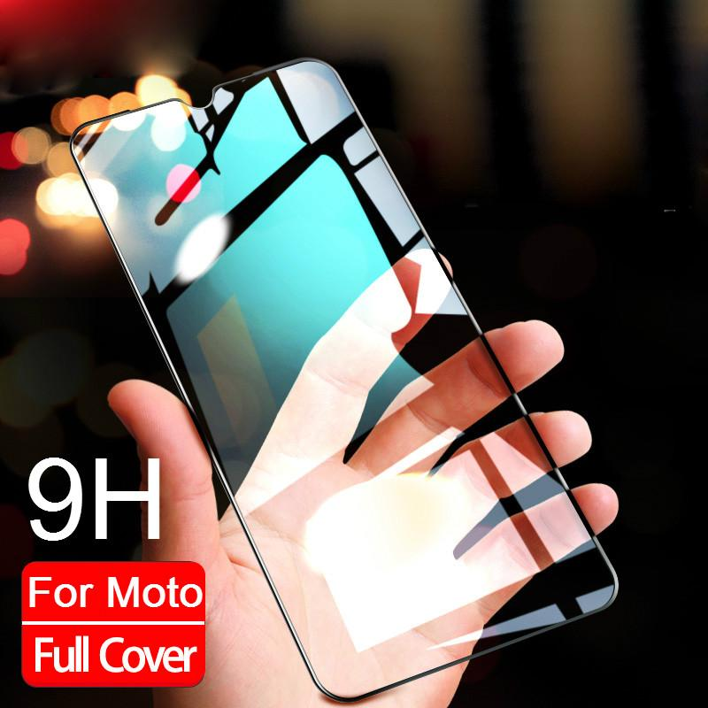 Tempered Glass For Motorola Moto One Macro ZOOM Action Vision X4 Z4 G8 Plus Play Z4 Z2 Force P50 Screen Protector Full Glue Film(China)