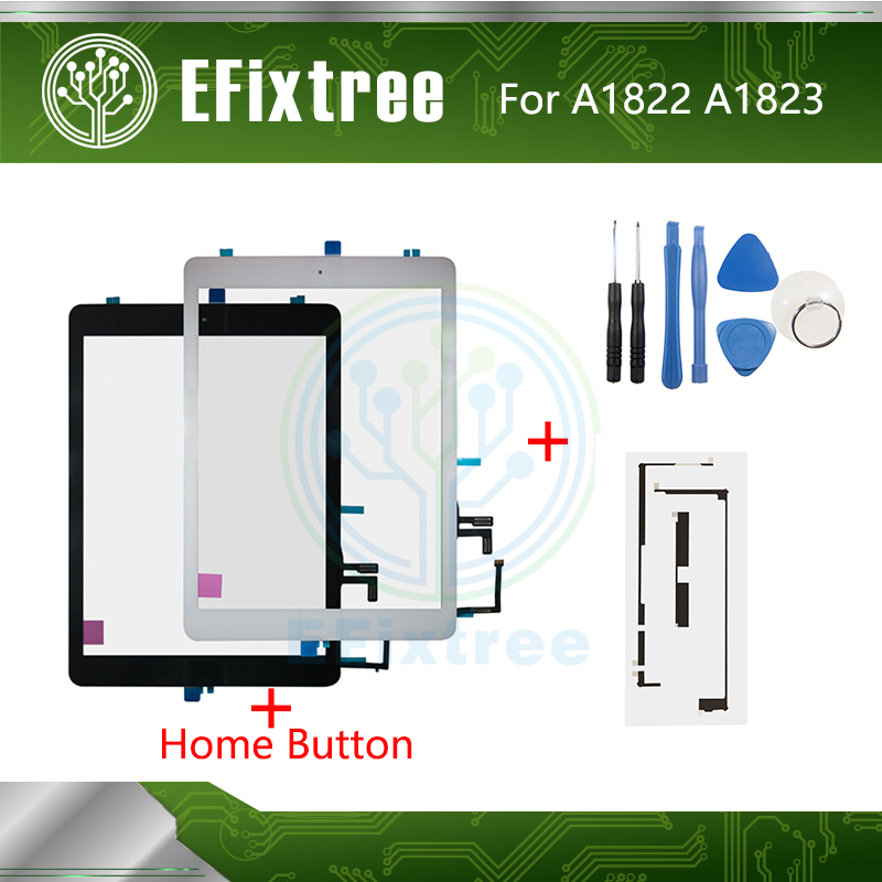 New 2017 Year Black White A1822 A1823 Touch Screen For IPad 5 5th Generation Digitizer Outer LCD Panel Front Glass With Sticker