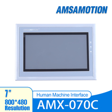 AMSAMOTION AMX-070C 7'' Inch HMI Touch Screen 800*480 Ethernet Port Human Machine Interface Touch Panel Samkoon SK-070HS for new hitech inch hmi touch screen plc hmi operator panel display mono stn lcd pws6600s p 640 480 2com warranty 5 7 inch