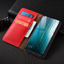 Litchi Texture Genuine Leather Wallet Magnetic Flip Cover For OPPO Reno Z 2 Z 2F 3 4 Pro 5G ACE 2 10X Zoom Case