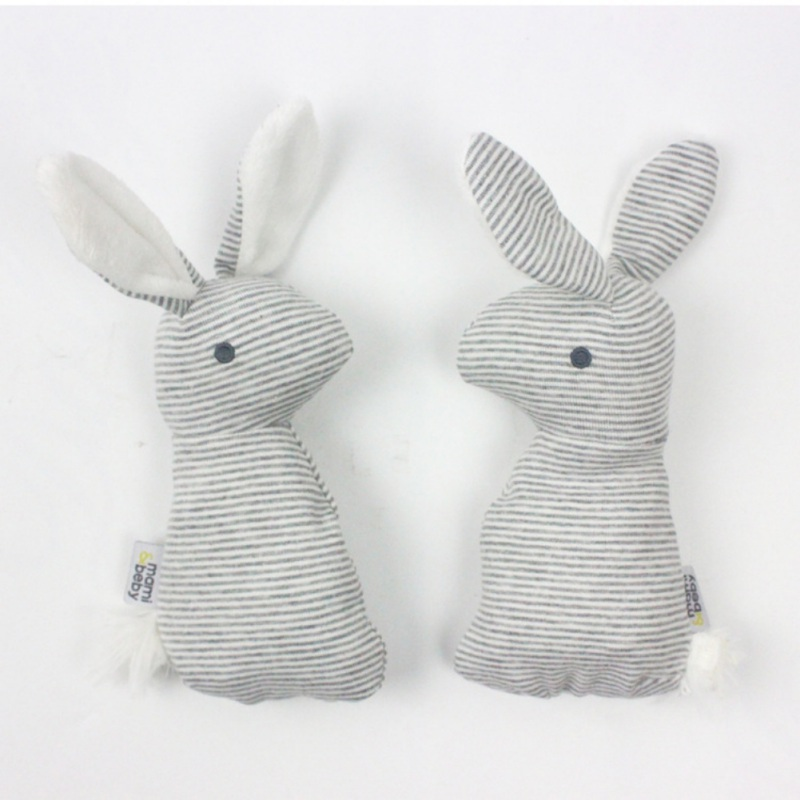 Newborn Infant Baby Rattle Toys Cute Rabbit Handbells Plush Baby Toy With Sound Toy Gift Children Kids Christmas Plush Doll