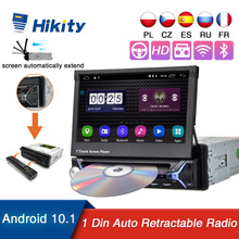 Hikity Android 10 1 Din Auto Multimedia DVD Player Automatische Versenkbare Autoradio 7