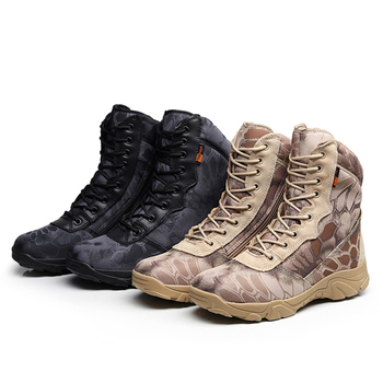 Men Military Tactical Boots Autumn Winter Waterproof Leather Army Boots Desert Safty Work Shoes Combat Ankle Boots 3