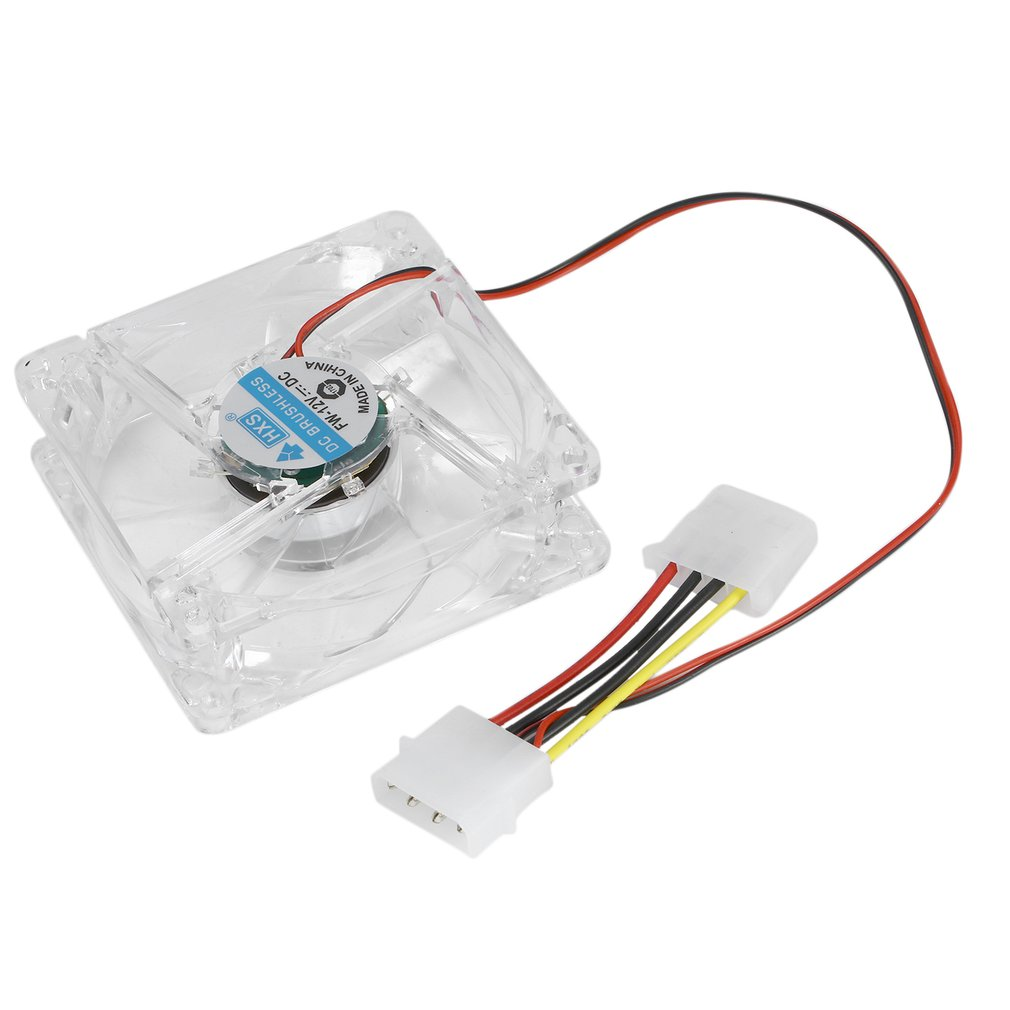 <font><b>80mm</b></font> Computer <font><b>PC</b></font> <font><b>Fan</b></font> With LED 8025 Silent Cooling <font><b>Fan</b></font> <font><b>12V</b></font> LED Luminous Chass Computer Case Cooling <font><b>Fan</b></font> Mod Easy Installed image
