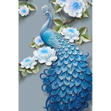5D DIY Diamond Painting Blue Peacock Cross Stitch Animal Embroidery Complete Kit Picture Of Rhinestones Mosaic Decoration Home цена 2017
