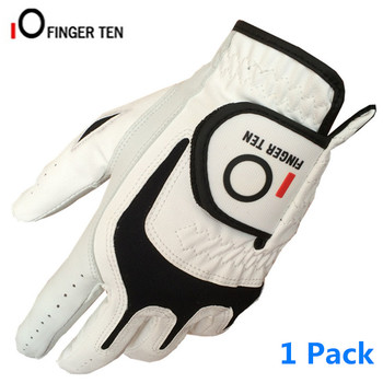 All Weather Grip Golf Gloves Leather Left Right Hand Men's Durafit Breathable Comfortable 1 Pc Soft PU Non-slip Fit S M L ML XL