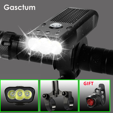 Built-In 5200mAh Bicycle FlashLight L2/T6 USB Rechargeable Power Bank 20000Lm 3Modes Bike Light Waterproof light With Gift