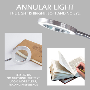 Image 2 - Multifunctional Table Lamp Magnifying Glass Lamp Clip Desk Lamp Eye Protection Reading Led Desk Lamp Beauty Makeup Tattoo Light