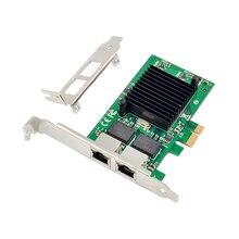 Сетевой адаптер Zeadow PCI-E X1 на 2 порта Gigabit Ethernet 1000 м LAN с чипсетом Intel 82576EB для Windows Linux