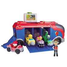 Paw Patrol Toy Set Bus Have 3 Cars Ryder Team Big Truck Rare Music Rescue Action Figures for children Gifts