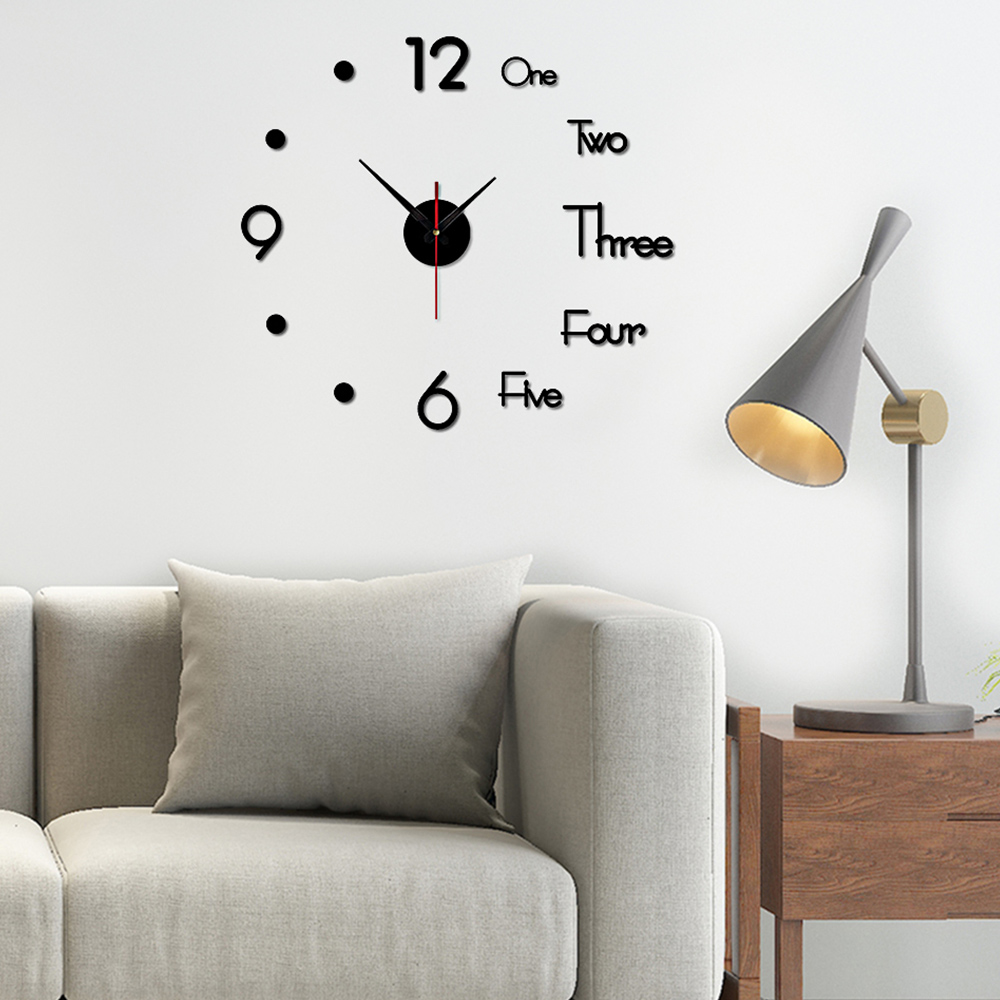 3d Diy Wall Clock Modern Design Clock Watch Large Wall Clocks Acrylic Mirror Self Adhesive Wall Clock Living Room Home Decor Special Price 97423a Cicig