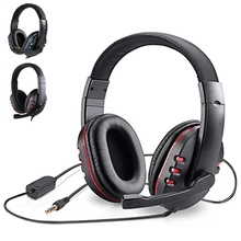 3.5mm Wired Gaming Headset With Mic  For Computer Noise Isolation Volume Control Gaming Headphone Bass Stereo for PC PS4 Laptop