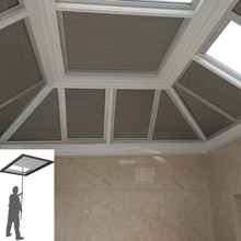 Roof-Curtains Honeycomb Blinds Cellular Shades Skylight Window Cordless Electric Mechanism