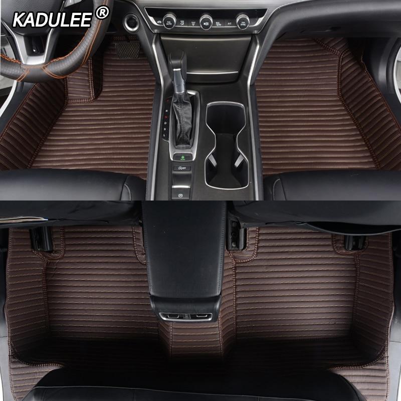 KADULEE tapis de sol de voiture en cuir sur mesure pour Geely tous les modèles Emgrand EC7 GS GL GT EC8 GC9 X7 FE1 GX7 SC6 SX7 GX2 tapis de sol