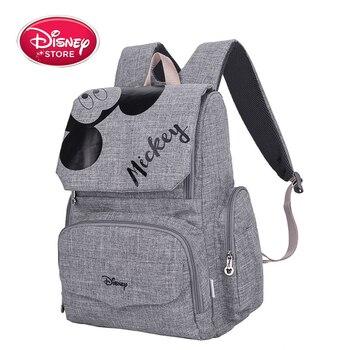 Сумка для подгузников Disney Minnie Mickey, рюкзак для мам, сумка для коляски, вместительная сумка для детских подгузников, органайзер, Новинка
