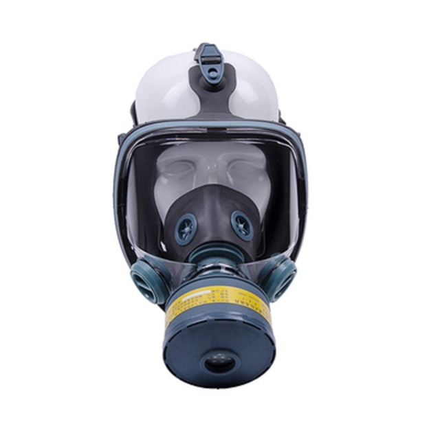 Painting Spray Gas Mask N95 Chemical Full-face Mask Respirator Long Tube Filter Pesticide Ammonia with Automatic Blower 1