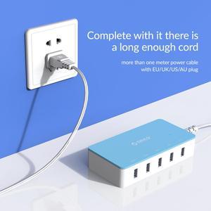 Image 5 - オリコ5ポートデスクトップusb充電器旅行充電アダプターのための急速充電スマートフォン4色インテリジェントな充電器の電源ソケット