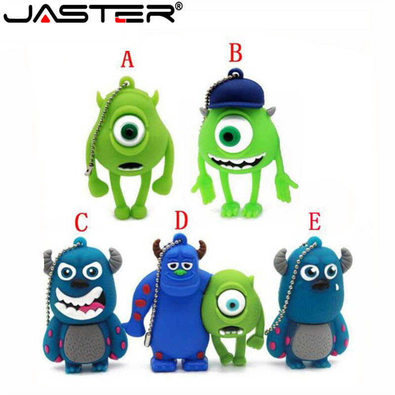 JASTER Cute Cartoon 3 Colour Monster University Usb Flash Drive Usb 2.0 4GB 8GB 16GB 32GB 64GB Pendrive Best Gift