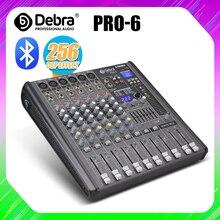 Professionale 6 Canali DJ console mixer Audio con 256DSP bluetooth USB 48V per la Fase di registrazione del computer webcast musica in studio