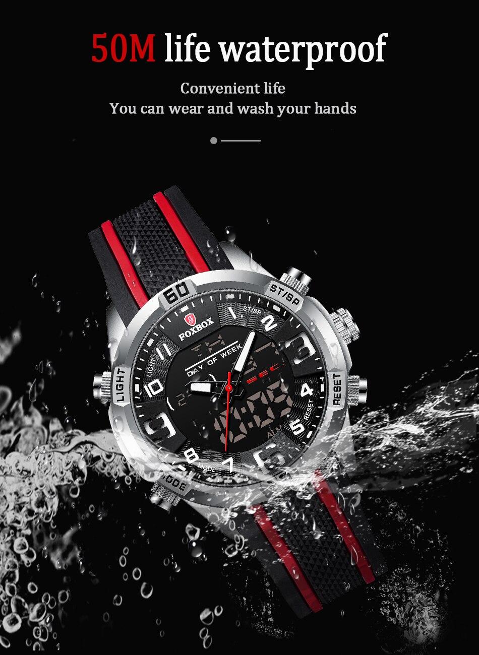 H410f0d86c8f14c56ae266347096e49e55 Watch For Men FOXBOX Top Brand Luxury Dual Display