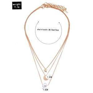 Modyle простой звезды и луна кулон ожерелье для женщин новая Bijoux (украшения своими руками) заявление, подвеска, колье, ожерелье, ювелирные изделия
