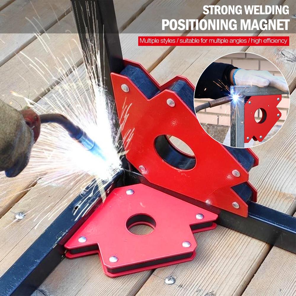 6PCS Set Soldering Locator Strong Magnet Welding Magnetic Holder Triangle Arrow Welder Positioner Power Tool Accessories