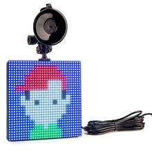 12v P4 Animation LED Signboard Car Etiquette Light Bluetooth Full Color DIY Graffiti Logo LED Emotion Message Display Board