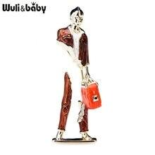 Wuli & baby – sac de transport pour hommes et femmes, broches, modèle d'art abstrait, fête, bureau, épingles, cadeaux, nouvelle collection