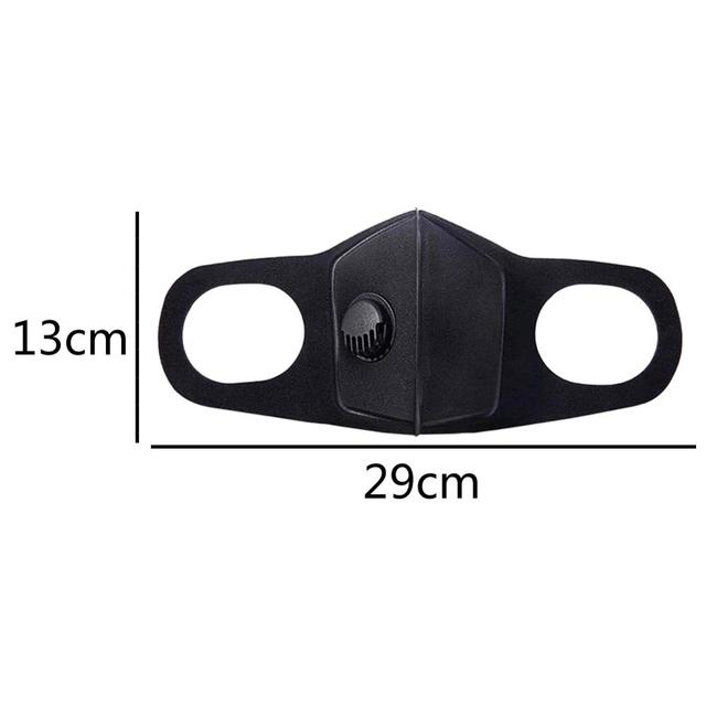 PM 2.5 Dust Mask Double Air Valve Anti Pollution Mask Dust Mask Anti-fog Activated Carbon Filter Flu-proof Mouth Mask Outdoor 5