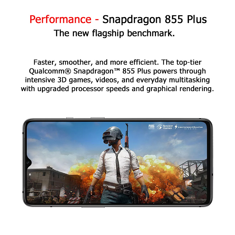 In Lager Globale ROM OnePlus 7T Pro Snapdragon 855 Plus Octa Core Smartphone 8GB 256GB 6.67 ''90Hz AMOLED 48MP Cam NFC Android 10