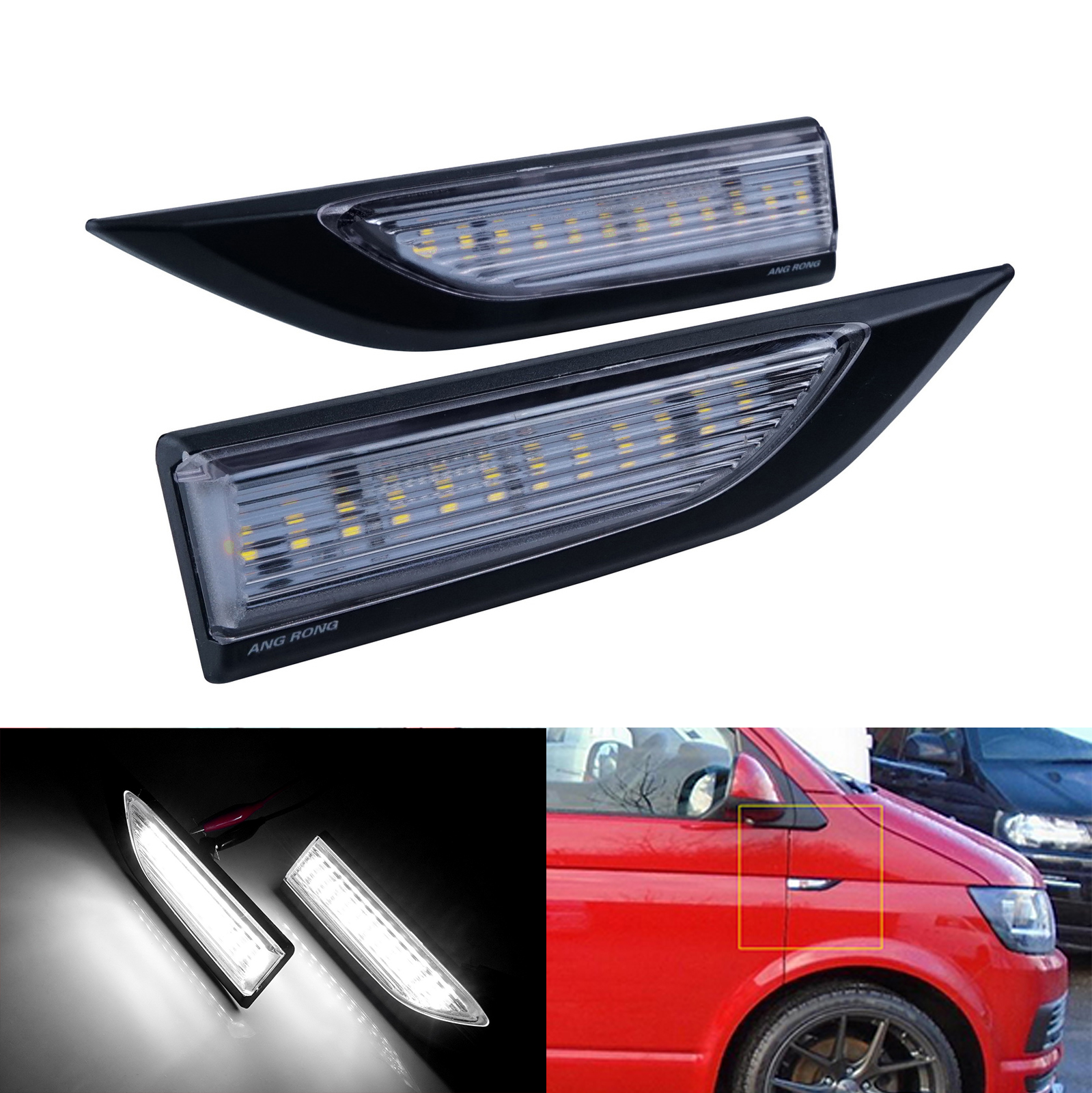 Left OR Right Clear Turn Signal Light Lamp Lens Flasher Indicator for Volkswagen