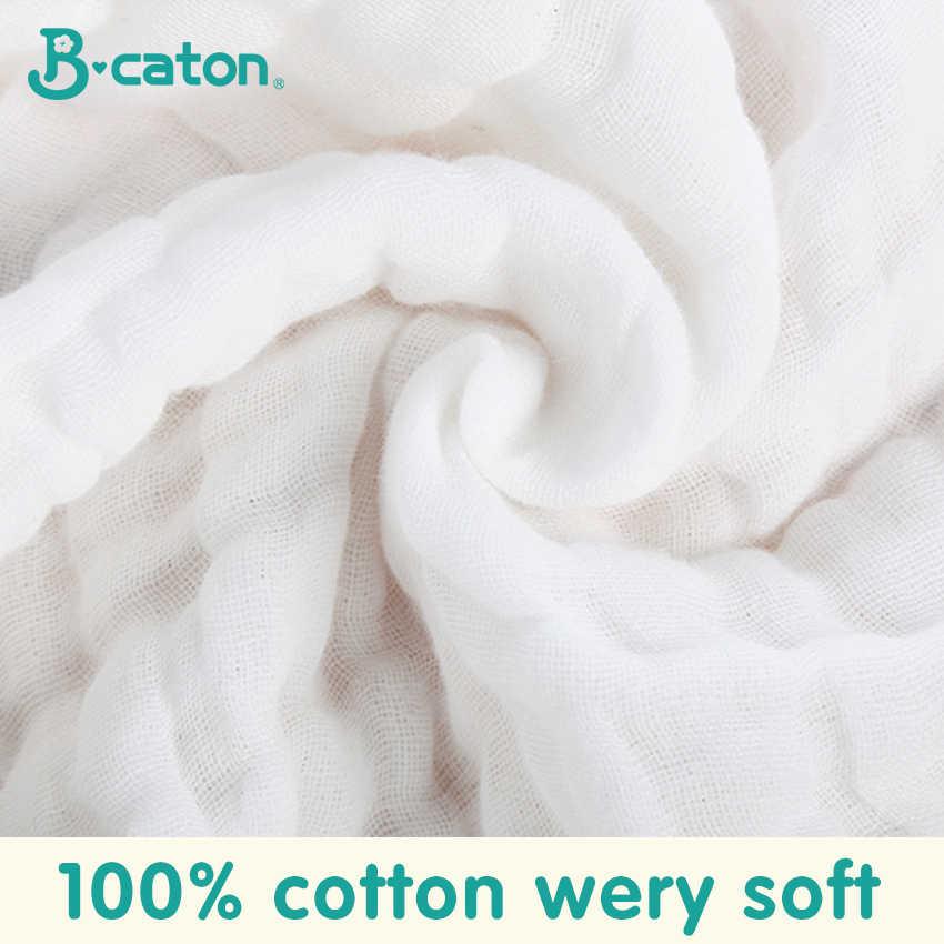 מגבת פני תינוק מגבת תינוק מטפחת תינוק אמבטיה כותנה גיהוק בד רך סופג 6-שכבה גזה גן מטלית 30X30Cm
