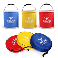 11L Folding Water Bucket Fishing Basin Water Bags Outdoor Camping Hiking Travel