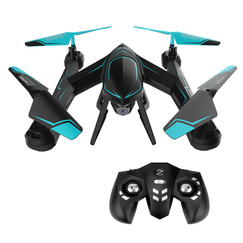 Mini Drone avec caméra grand angle hélicoptère RC avec WiFi FPV maintien d'altitude RC quadrirotor avec lunettes VR jouets pour enfants # E