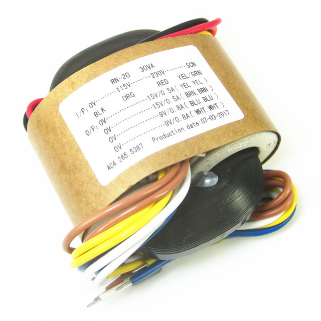 Transformador dac R core para diy, decodificador de audio es9018 es9038pro ak4497, 30W, 15V x 2 + 9V x 2