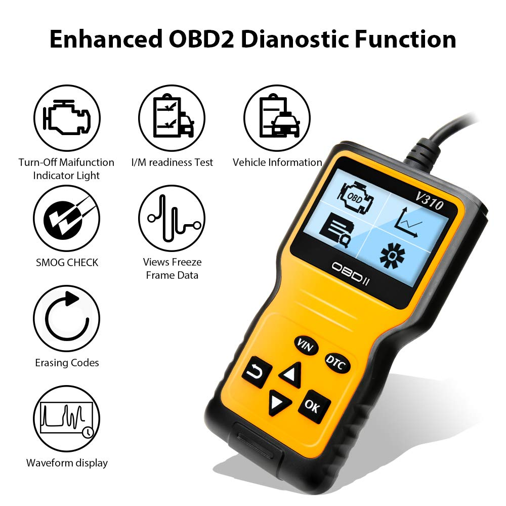 OBD2 Scanner OBD Reader Enhanced Universal Car Engine Fault Code Reader Scan Diagnostic Scan Tool for All OBD II Protocol Cars