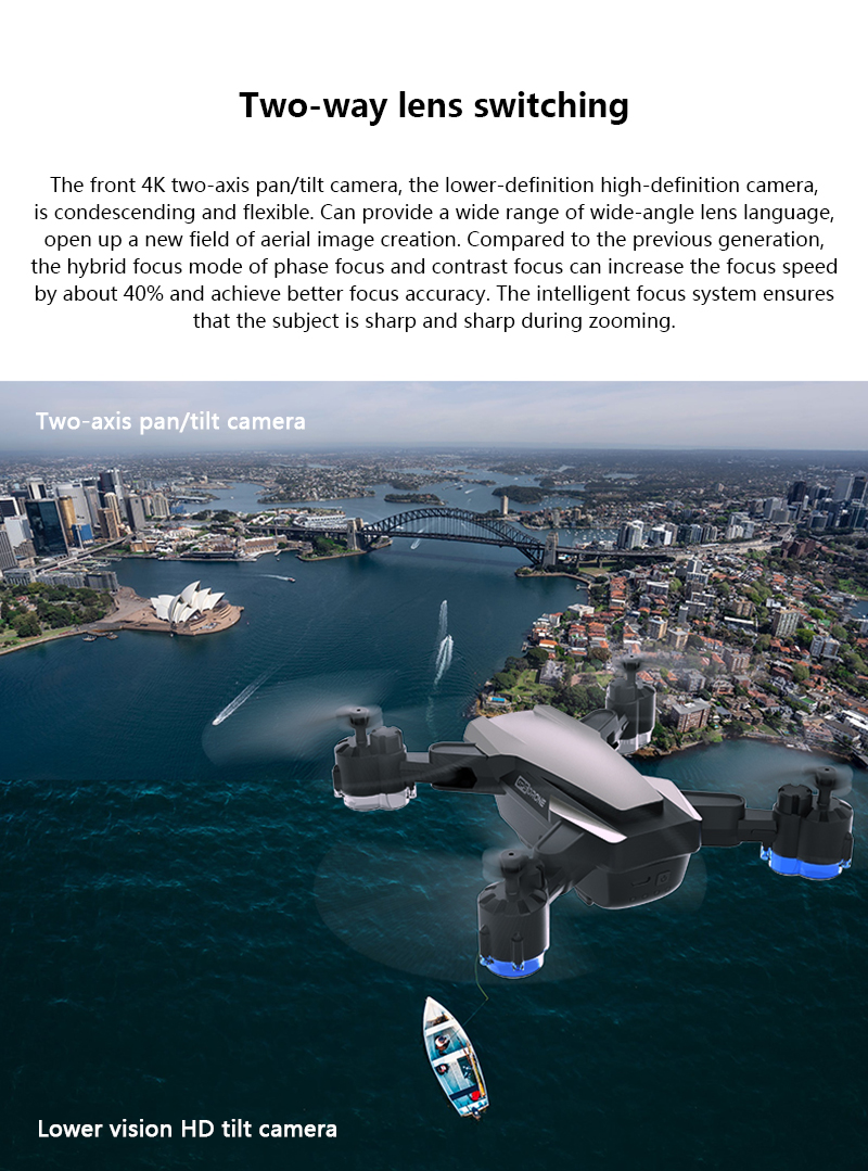SHAREFUNBAY Drone GPS 5G WIFI and 4K HD wide-angle camera FPV Drone X Pro Quadcopter 23