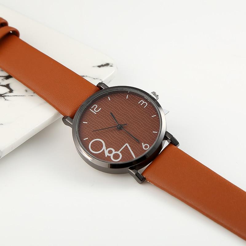 New Fashion Brand Women's Watches Quartz Leather New Strap Ladies Dress Luxury Watch Analog Mens Wrist Watch